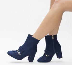 Botine Biago Albastre comode si confortabile pentru femei pline de stil si eleganta