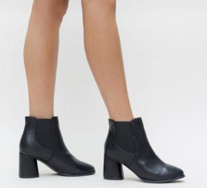 Botine Coby Negre comode si confortabile pentru femei pline de stil si eleganta