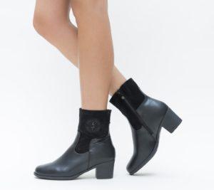 Botine Diago Negre comode si confortabile pentru femei pline de stil si eleganta