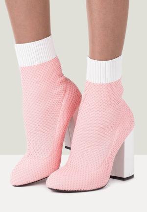Botine cu toc Rossele Roz pentru femei elegante si pline de stil