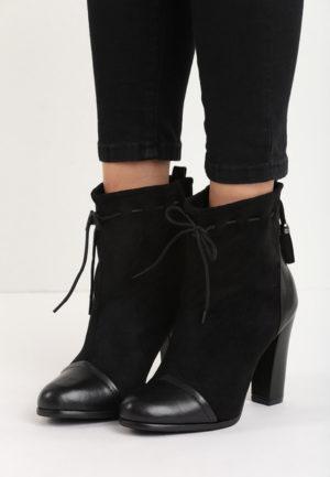 Botine cu toc Summers Negre pentru femei elegante si pline de stil