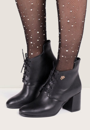 Botine piele Destinee Negre pentru femei elegante si pline de stil
