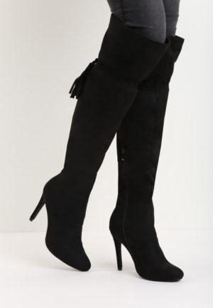 Cizme cu toc Laurentine Negre feminine si moderne pentru femei