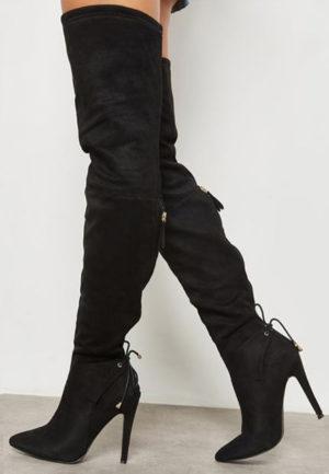 Cizme cu toc Yamuna Negre feminine si moderne pentru femei