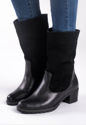 Cizme dama piele Sirpa Negre feminine si moderne pentru femei