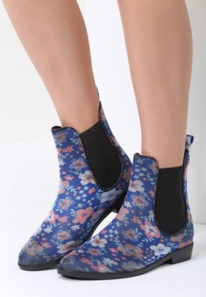 Cizme de cauciuc Atyra Albastre feminine si moderne pentru femei