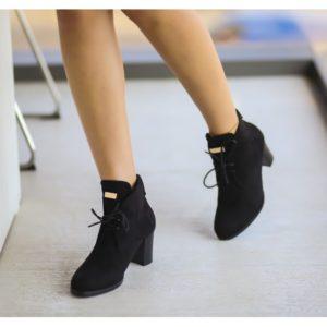 Botine Afany Negre cu toc elegante pentru femei