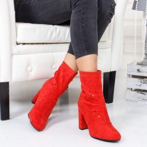 Botine Aldomi rosii foarte elegante si comode pentru femei