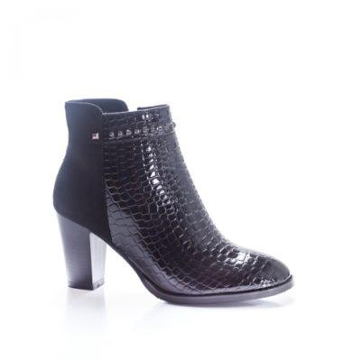 Botine Audemi negre elegante foarte elegante si comode pentru femei