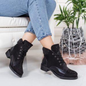 Botine Bamino negre comode foarte elegante si comode pentru femei