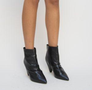 Botine Baxel Negre 2 cu toc elegante pentru femei