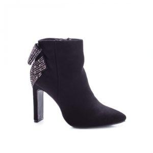Botine stiletto negre elegante de ocazie cu toc inalt de 10 cm Beausoleil