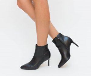 Botine Begea Negre cu toc elegante pentru femei