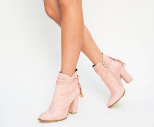 Botine Cameron Roz cu toc elegante pentru femei