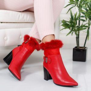 Botine Capilo rosii foarte elegante si comode pentru femei