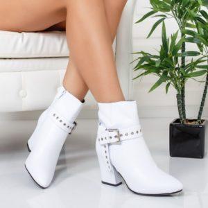 Botine Clerance albe foarte elegante si comode pentru femei
