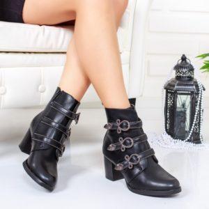 Botine Coplery negre elegante foarte elegante si comode pentru femei