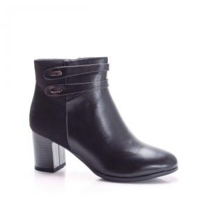 Botine Dusani negre cu toc foarte elegante si comode pentru femei