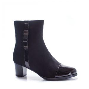 Botine Efida negre cu toc gros foarte elegante si comode pentru femei