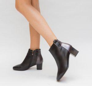 Botine Estimo Negre cu toc elegante pentru femei