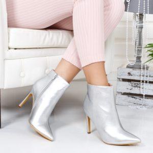 Botine Fadoni argintii foarte elegante si comode pentru femei