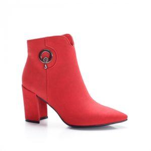 Botine Gisami rosii foarte elegante si comode pentru femei