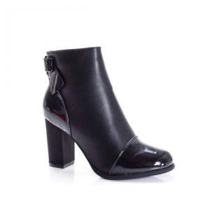 Botine Gotcher negre cu toc foarte elegante si comode pentru femei