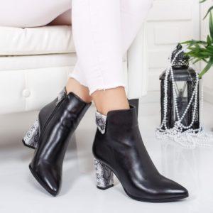 Botine Hemina negre elegante foarte elegante si comode pentru femei