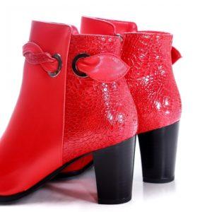 Botine Hickory rosii elegante foarte elegante si comode pentru femei