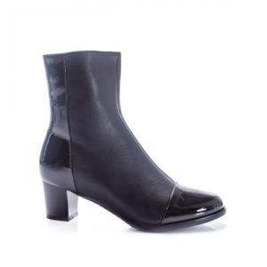 Botine Idun negre cu toc foarte elegante si comode pentru femei