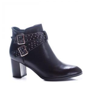 Botine Inameli negre elegante foarte elegante si comode pentru femei