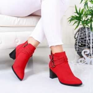 Botine Inameli rosii foarte elegante si comode pentru femei