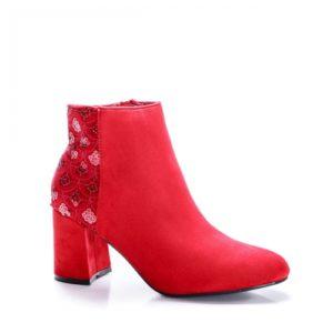 Botine Jalila rosii elegante foarte elegante si comode pentru femei