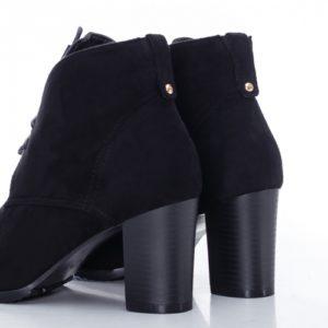 Botine Laika negre cu toc foarte elegante si comode pentru femei