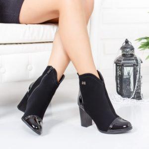 Botine Lerumi negre elegante foarte elegante si comode pentru femei