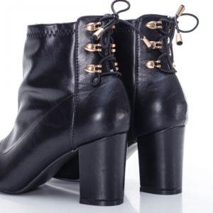 Botine Mabyna negre cu toc foarte elegante si comode pentru femei