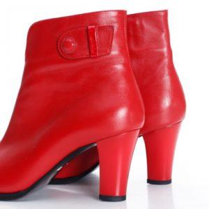 Botine Piele Darelia rosii foarte elegante si comode pentru femei
