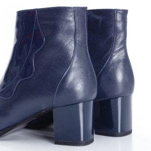 Botine Piele Lileas albastre foarte elegante si comode pentru femei