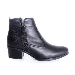 Botine Piele Solitami negre cu toc foarte elegante si comode pentru femei