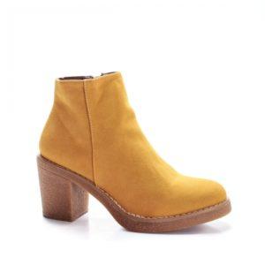 Botine Radeli galbene cu toc gros foarte elegante si comode pentru femei