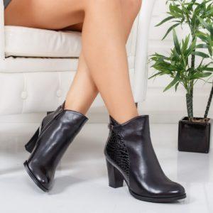 Botine Recami negre foarte elegante si comode pentru femei