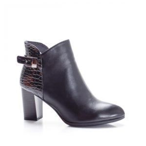 Botine Ricci negre cu toc foarte elegante si comode pentru femei