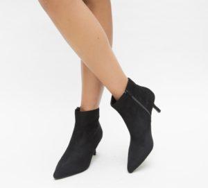 Botine Seconda Negre 2 cu toc elegante pentru femei