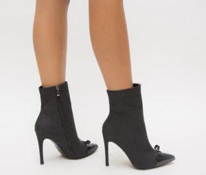 Botine Seraton Negre cu toc elegante pentru femei
