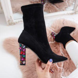 Botine Slarvi negre elegante foarte elegante si comode pentru femei