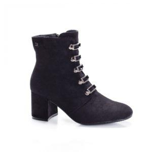 Botine Sloss negre cu toc foarte elegante si comode pentru femei