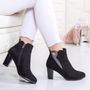 Botine Soltimo negre elegante foarte elegante si comode pentru femei