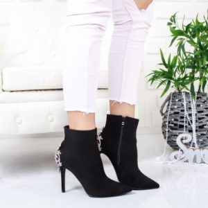 Botine Sonati negre elegante foarte elegante si comode pentru femei