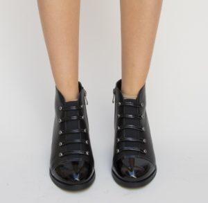 Botine Tenesis Negre 2 cu toc elegante pentru femei