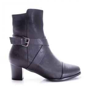 Botine Tonina negre cu toc foarte elegante si comode pentru femei